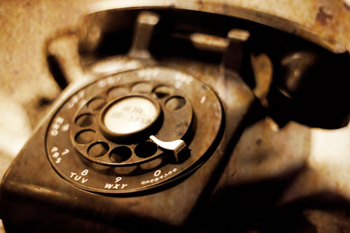 Old phone tech - contact page at thisissamstown.com